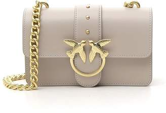 Pinko Simply Bird Detail Chain Link Strap Mini Shoulder Bag