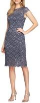Alex Evenings Petite Women's Lace Sheath Dress