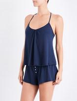 Eberjey Baxter T-Back pointelle-knit pyjama camisole