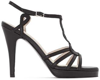 La Redoute Collections Leather Cage Sandals
