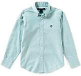Brooks Brothers Little/Big Boys 4-20 Non Iron Solid Basket-weave Oxford Shirt