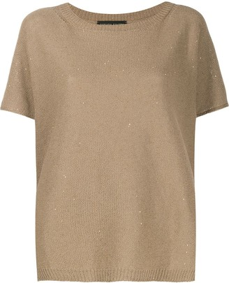 Fabiana Filippi sequin knit T-shirt