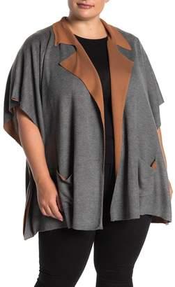 Bobeau B Collection by Liya Notch Lapel Knit Cardigan (Plus Size)