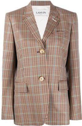 Lanvin Checked Single-Breasted Blazer