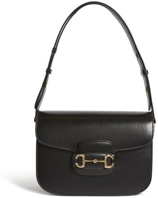 Gucci Leather 1955 Horsebit Shoulder Bag