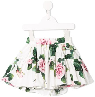 Dolce & Gabbana Kids Floral Print Skirt