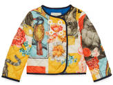 Gucci Baby cat print nylon jacket