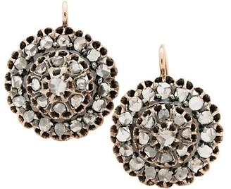 Stephanie Windsor Victorian 18K Yellow Gold & Diamond Cluster Drop Earrings