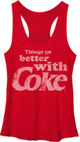 Fifth Sun Heather Red Coca-Cola 'Better with Coke' Racerback Tank - Juniors