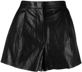 Pinko Leather-Look Shorts
