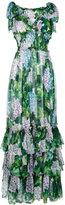 Dolce & Gabbana hydrangea print dress - women - Silk/Cotton/Polyamide/Spandex/Elastane - 40