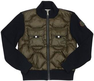 Moncler Nylon Down & Knit Jacket