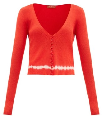 Altuzarra Nezu Shibori-dye Pima-cotton Cardigan - Orange