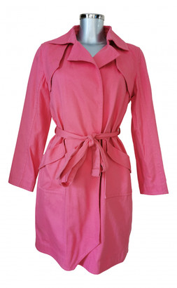 Alexis Mabille Pink Cotton Trench coats