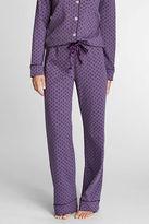 Lands' End Women's Regular Pattern Cotton Interlock Sleep Pants