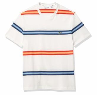 Lacoste Men's Short Sleeve Ombre Striped Regular Fit T-Shirt