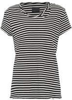 RtA Distressed Striped Cotton-Jersey T-Shirt