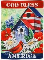 Evergreen Patriotic Birdhouse Indoor / Outdoor Garden Flag