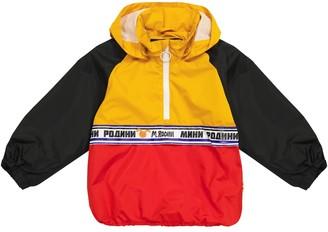 Mini Rodini Colorblocked rain jacket