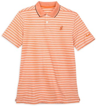 Disney Mickey Mouse Performance Polo Shirt for Men by Nike Coral Striped