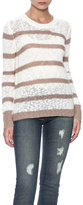 Michael Stars Cotton Striped Crew Sweater