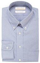 Roundtree & Yorke Gold Label Houndstooth Non-Iron Regular Full-Fit Button-Down Collar Dress Shirt