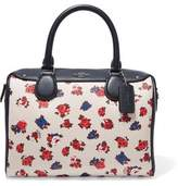 Coach Printed Textured-Leather And Smooth Leather Tote