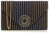 Wilbur & Gussie Wallace Navy Tweed Envelope Clutch Bag