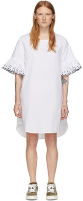 See by Chloe White Poplin Frill Dress