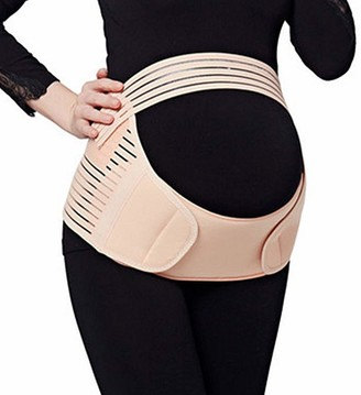 JADE KIT 3 in 1 Maternity Support Belt Prgnancy Belly Band for Back Pelvic Waist Abdomen Hip Pain RelieveLarge Size Beige