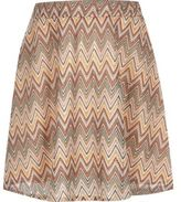 River Island Girls orange lace zig zag skater skirt