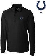 Cutter & Buck Men's Indianapolis Colts 3D Emblem Jackson Overknit Quarter-Zip Pullover