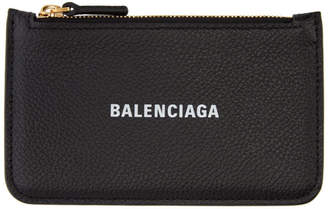 Balenciaga Black Cash Long Card Holder