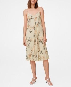 MANGO Women's Pleated Floral Dress