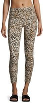 Norma Kamali Cropped Leopard-Print Leggings, Multi Pattern