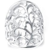 SPARKLE ALLURE Silver-Plated Filigree Ring