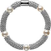 Links of London Effervescence Star Sterling Silver Pearl Bracelet, Silver/White