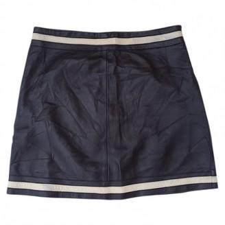 Blumarine Black Leather Skirt for Women