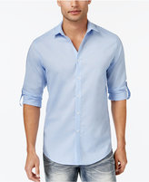 INC International Concepts Men's Roll-Tab Stretch Linen Shirt, Created for Macy's