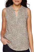 Liz Claiborne Split-Neck Tank Top