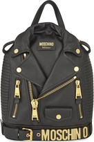 Moschino Leather jacket backpack