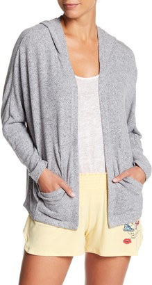 Free Press Hooded Brushed Knit Cardigan