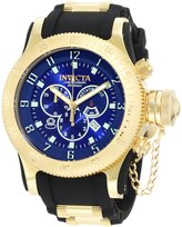 Invicta Men's Russian Diver Chronograph Dial Black Polyurethane Watch 10137