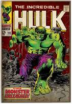 Marvel Silver Buffalo MC5636 Comics Hulk Unleashed Wood Wall Decor, 13 in. x 19 in. Novelty