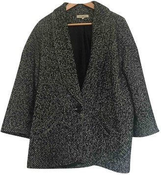 La Petite Francaise Black Wool Coat for Women