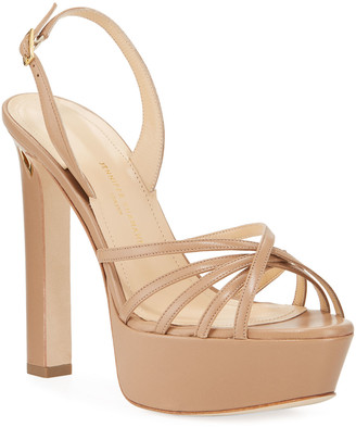 Jennifer Chamandi Roberto Leather Platform Sandals