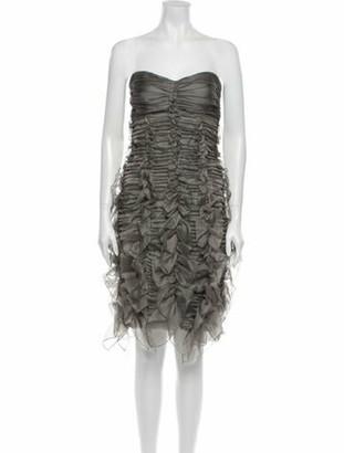 Burberry Silk Mini Dress w/ Tags Grey
