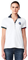 Lands' End Women's Mesh Polo Shirt-White