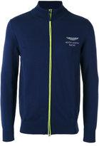 Hackett chest print zipped sweatshirt
