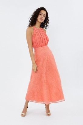 Coast 3D Textured Full Midi Dress